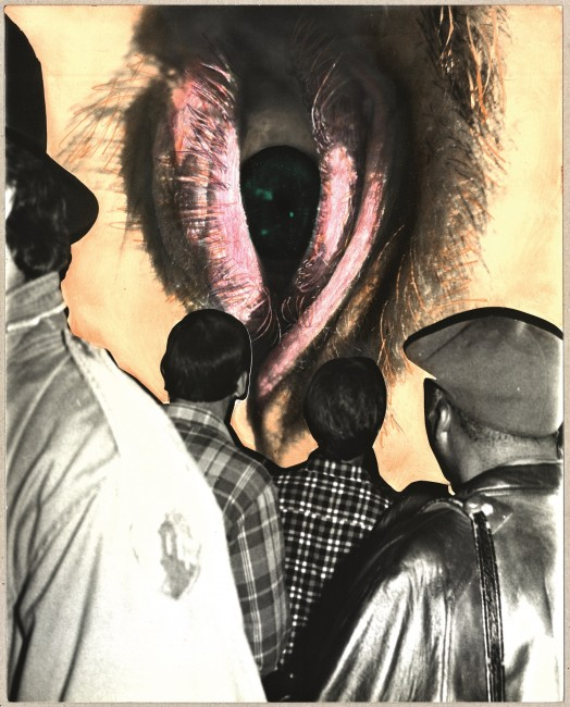 The Male Gaze, 1983. Hand-painted photograph, collage, 25,2 x 20,2 cm. © Barbara Hammer. Courtesy of Barbara Hammer and KOW Berlin