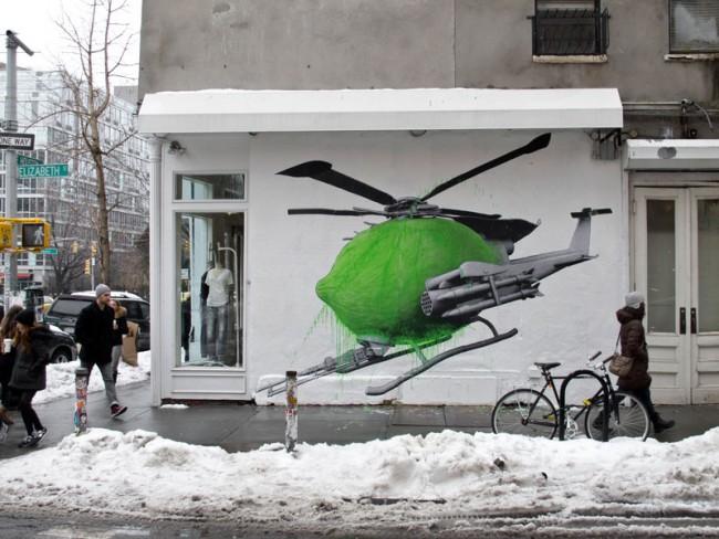 Ludo, Drone, New York, 2014, vernice acrilica. Courtesy l'artista