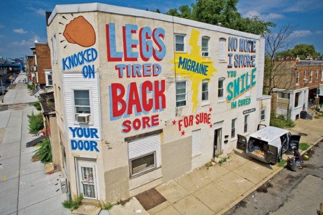 Stephen Powers, Love Letters, Philadelphia, 2010