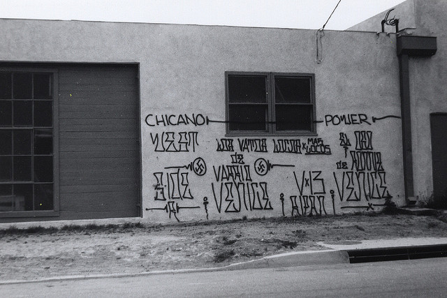 graffiti, Venice Beach, primi anni '70, photo by Howard Gribble