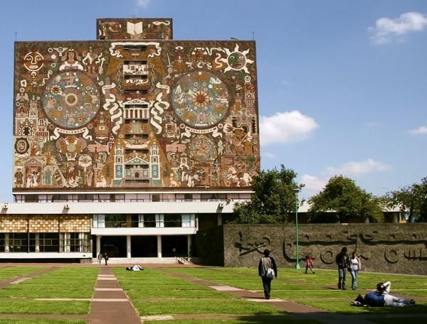 Juan O'Gorman, UNAM, biblioteca centrale, Città del Messico