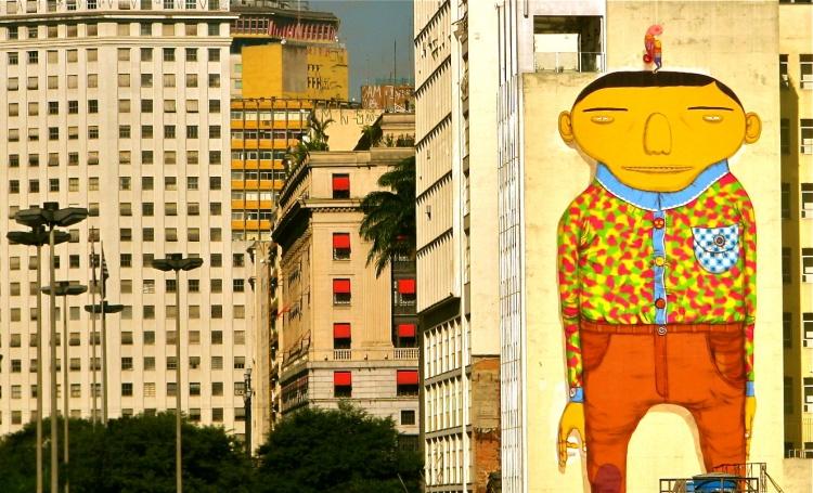 Os Gemeos, Vale do Anhangabaú, San Paolo Centro, 2009 (coperto nel 2012)