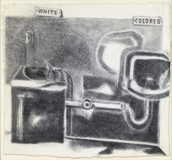 Étude pour Deep South, 2001. Fusain sur papier, 100 x 110 cm. Paris, Centre Pompidou, Musée National d'Art Moderne, © Adagp, Paris 2015