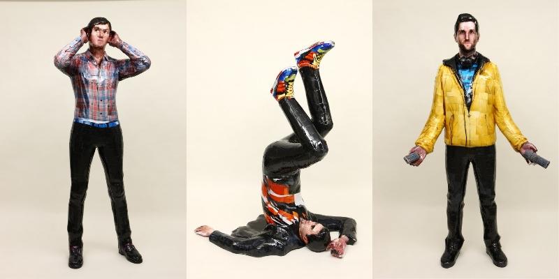 Da sinistra a destra: Osang Gwon, Keane Chaplin, 2008, C-print, tecnica mista, 195x75x55 cm; Keane Oxley, 2008, C-print, tecnica mista, 167x145x120 cm; Keane Hughes, 2008, C-print, tecnica mista, 200x110x80 cm © 2015 Osang Gwon