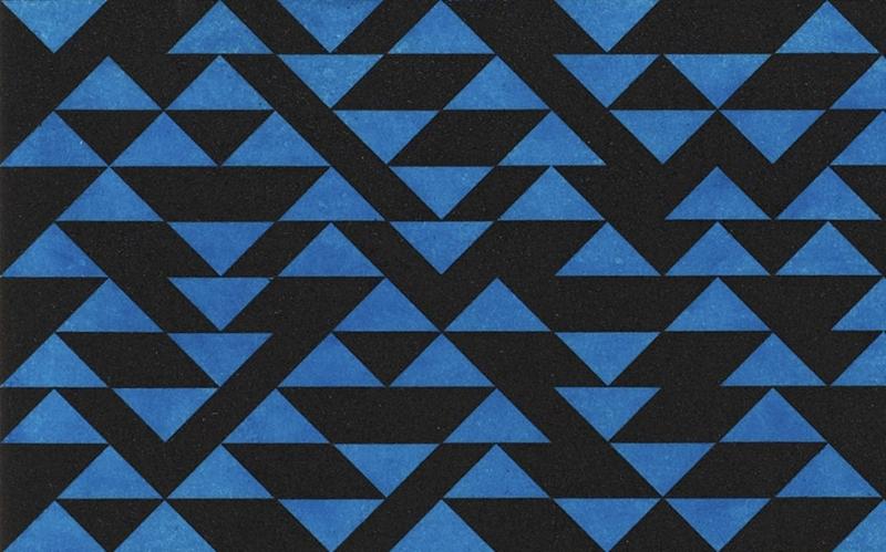 Anni Albers, Triangulated Intaglio V (particolare), 1976, acquaforte e acquatinta, 61x51 cm © 2015 the Josef and Anni Albers Foundation / Artists Rights Society New York