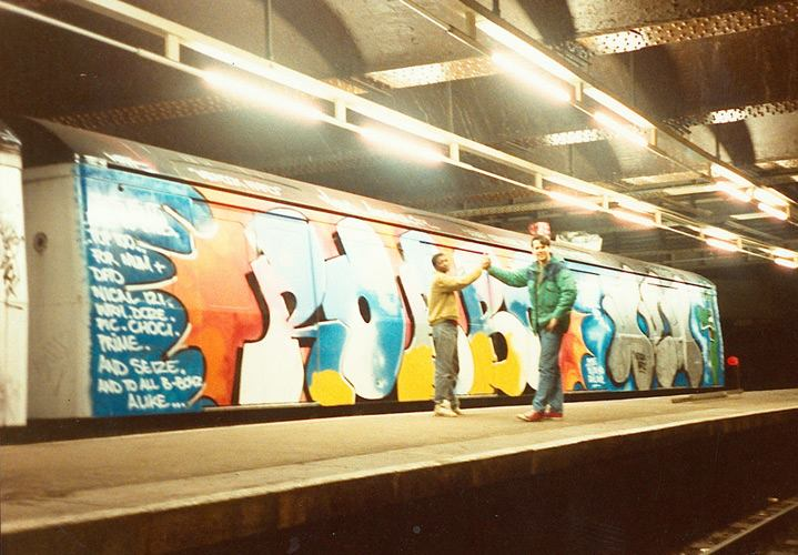Robbo & Prime WRH, Aldgate (Big Met), 1988, photo by rockingthecity.com