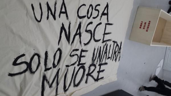 Giovanni Colosimo, Una cosa finisce solo se un'altra muore, performance 2015