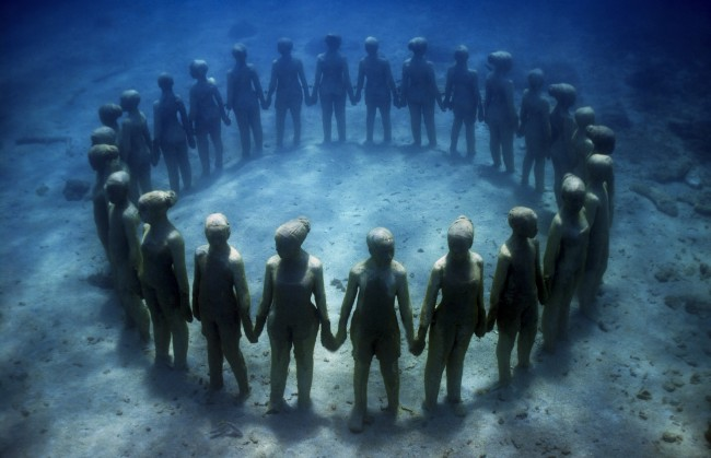 Vicissitudes, 2006. Grenada, West Indies. Foto: Jason deCaires Ta ylor
