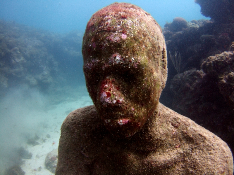 Jason deCaires Taylor, The Lost Correspondent, 2006, Grenada, West Indies. Foto: Jason deCaires Taylor