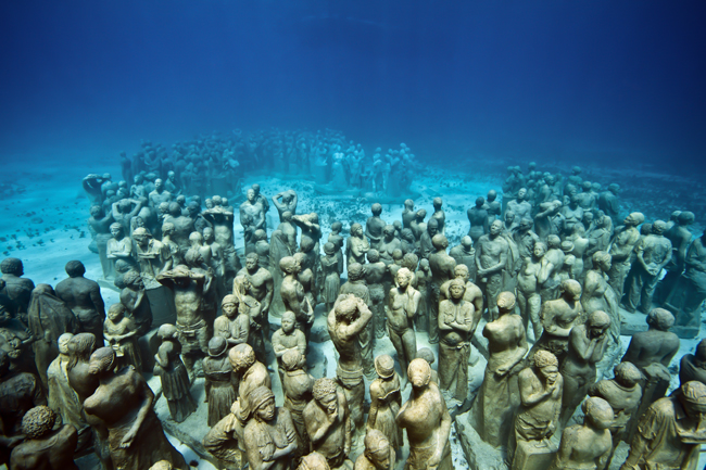 The Silent Evolution, 2010. MUSA Collection, Cancun/Isla Mujeres, Mexico. Foto: Jason deCaires Taylor