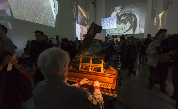 John Cage/Lejaren Hiller (USA), HPSCHD 1969>2015, esecuzione al MAMbo, Live Arts Week festival 2015