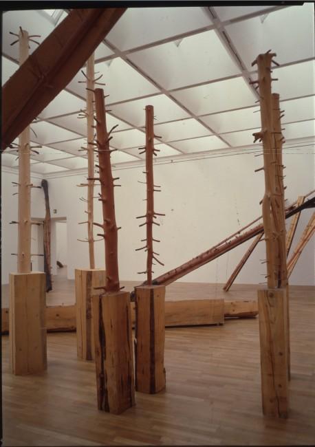 Giuseppe Penone, Ripetere il bosco, 1969 1997, Legno/Wood Vista dell'installazione al Kunstmuseum/ Kunstmuseum installation view, Bonn, 1997, Foto/Photo © Archivio Penone