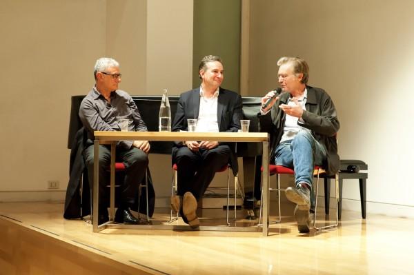 Alla British School at Rome, Ludovico Pratesi, Ludovico Pratesi e Thomas Schütte durante la conferenza del 4 maggio