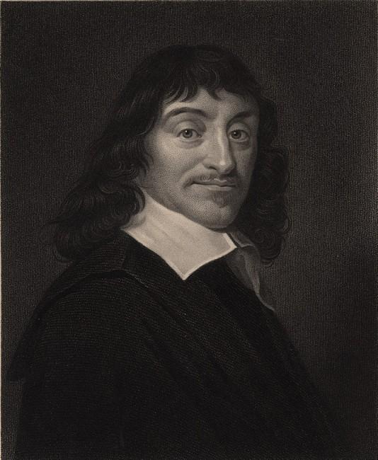 Una classica immagine del filosofo francese René Descartes, alla latina Cartesio