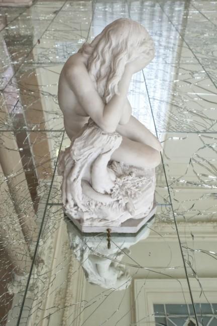 Passi, installazione permanente presso le Galleria Nazionale d'Arte Moderna, a Roma, 2011. Particolare. Photo: Mauro Di Michelangelo