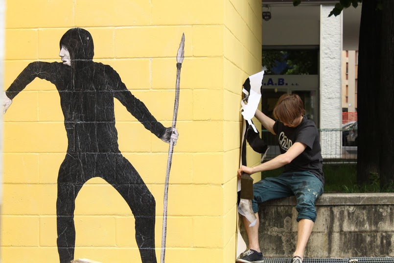 Cheap, street poster art festival: Levalet. Foto: Alessandra Bincoletto