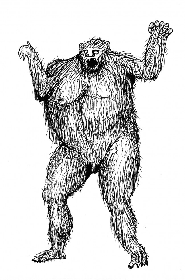 David Shrigley, Untitled (Yeti), 2004, Courtesy David Shrigley