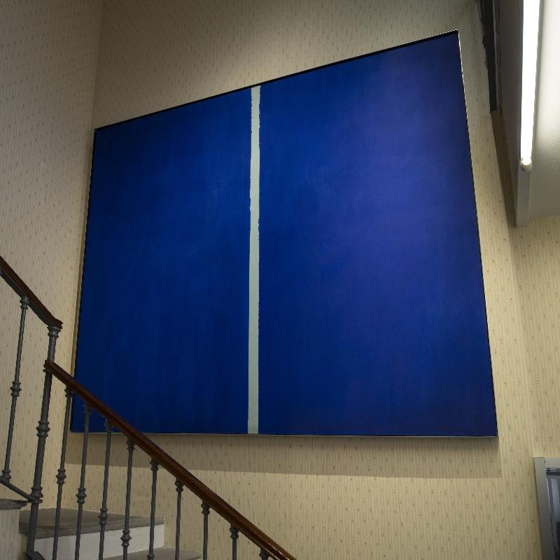 Barnett Newmann, Onement VI, 1953. Veduta della mostra An Introduction, Fondazione Prada Milano, 2015. Foto: Attilio Maranzano. Courtesy Fondazione Prada