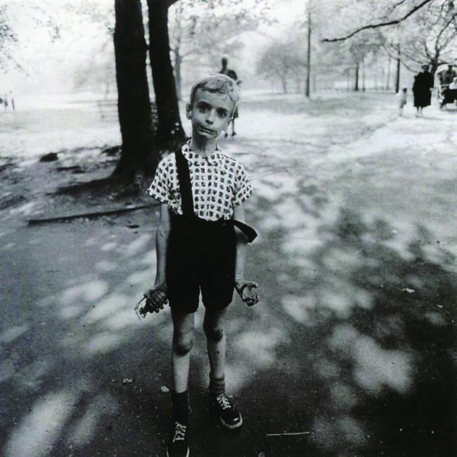 Diane Arbus, Child with toy hand grenade in Central Park, New York City, 1962 © Estate of Diane Arbus