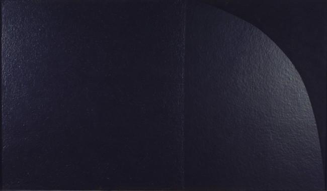 Alberto Burri, Grande nero Cellotex M2, 1975, cellotex e acrilico su tela