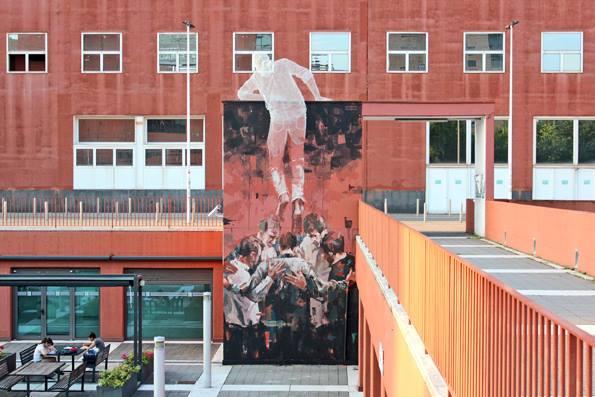 Edoardo Tresoldi e Borondo, Bicocca, Milano, courtesy Wunderkammern, crediti Mariasole Doria
