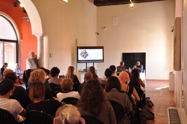 Intervento di Cavallucci all'Art Hub,  CAP – Centro Arti Plastiche – di Carrara
