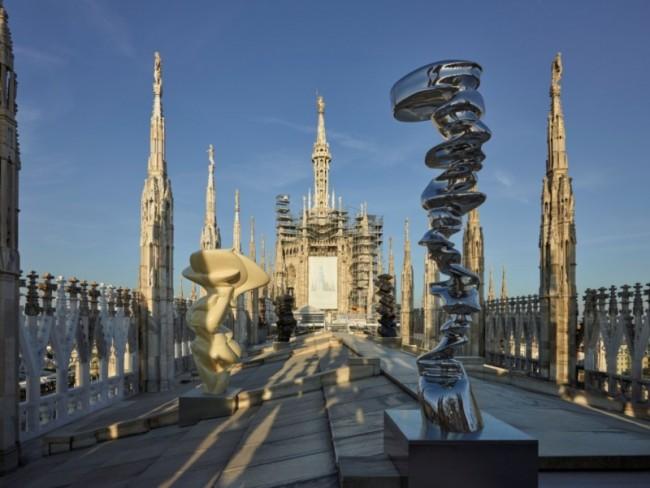 Tony Cragg, le sculture sulle terrazze del Duomo. Courtesy Veneranda Fabbrica del Duomo di Milano