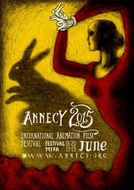 Poster di Annecy 2015 disegnato da Regina Pessoa