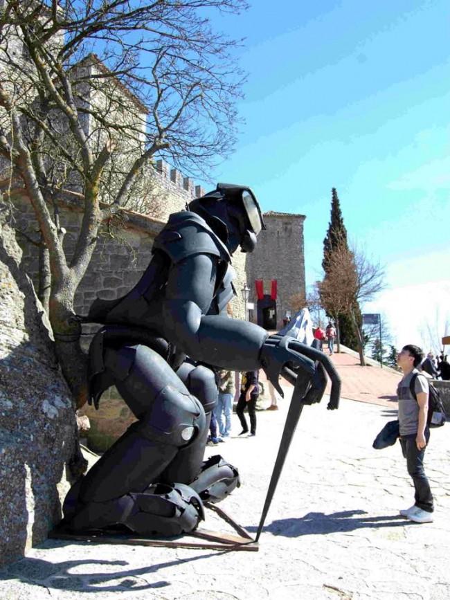 Lavoro di Lu Lupan esposto a San Marino
