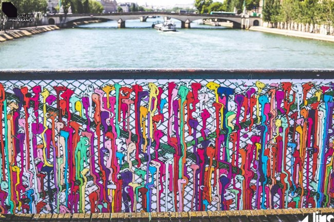 Brusk, Pont des Arts, Parigi