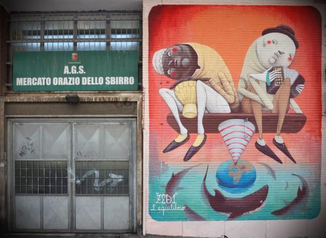 Zed1, Immigration, Ostia, foto Odoardo Antelmi