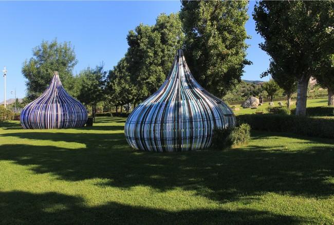 Dennis Hoppenheim, Electric Kisses, Parco Internazionale della Scultura, Foto di Antonio Renda