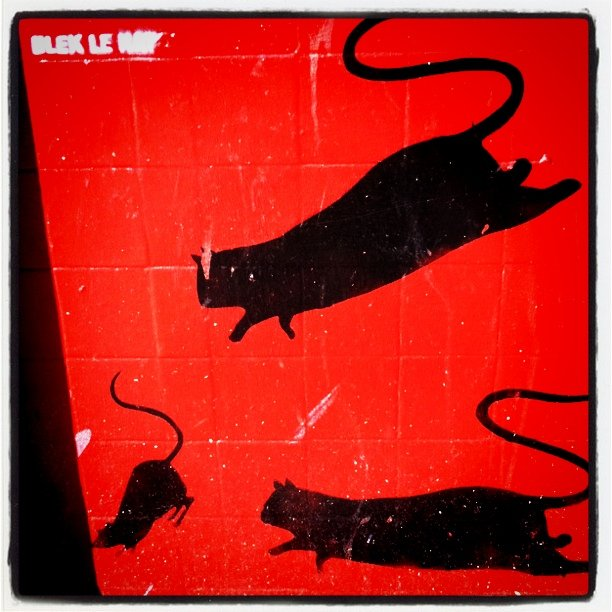 Blek le Rat, photo by Eric Steuer (wikicommons)