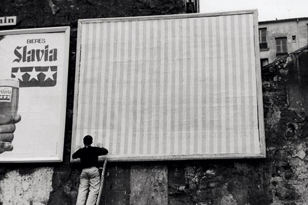 Daniel Buren, estate 1969, Parigi Detalles.© D.B. – ADAGP Paris