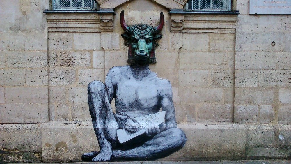 Levalet, Minotaur, 2015, photo by Ferdinand Feys; licenza Creative Commons BY-SA 2.0