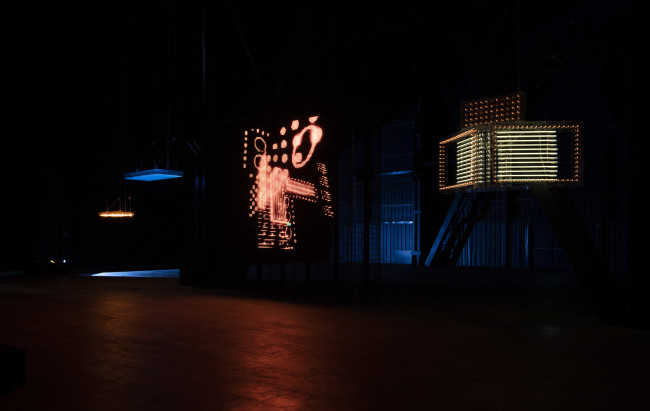 "Philippe Parreno ""Hypothesis"", installation view at HangarBicocca, Milan Courtesy of the Artist; Pilar Corrias Gallery; Gladstone Gallery; Esther Schipper; Fondazione HangarBicocca, Milan Photo: ©Andrea Rossetti"