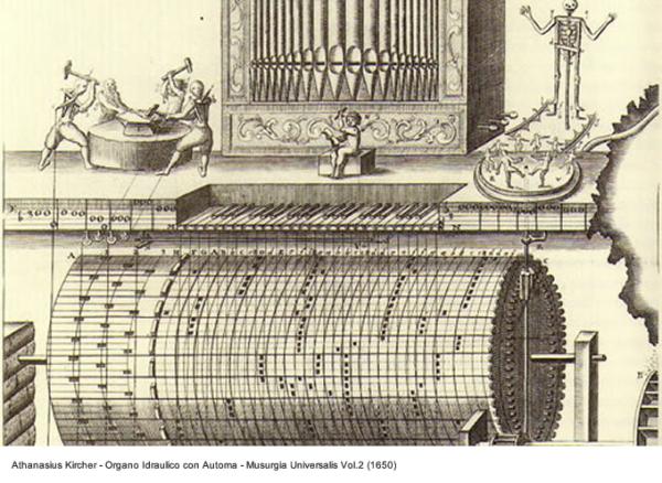 Athanasius Kircher - Organo Idraulico con Automa _ Musurgia Universalis Vol. 2, 1650