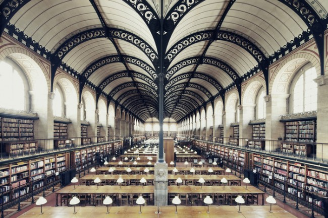 PARIGI - Bibliothèque Sainte-Geneviève. Photo by Franck Bohbot