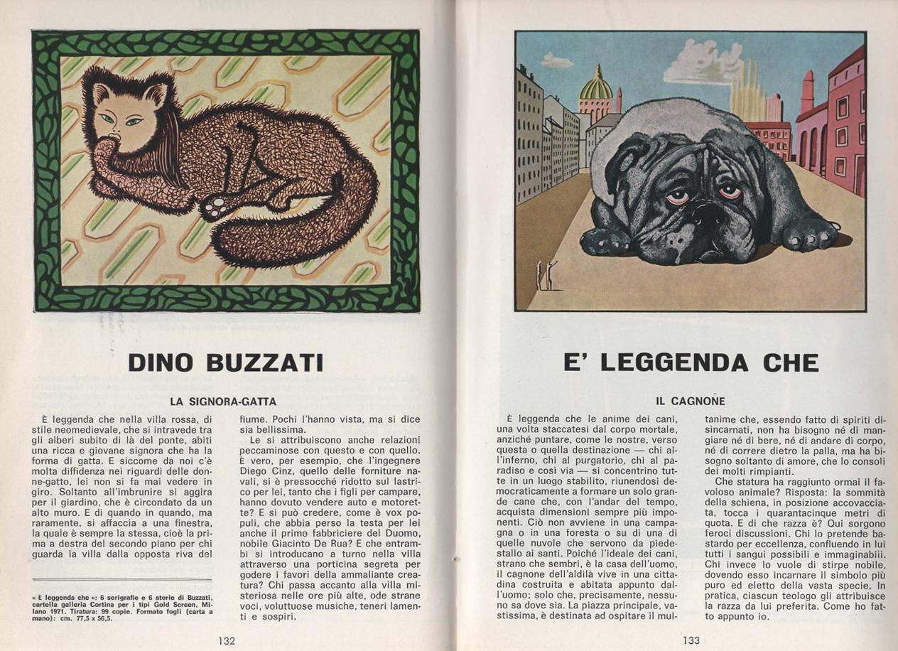 """Dino Buzzati """"È leggenda che"""", pubblicato su D'ARS n.53-54, anno XII, febbraio-marzo 1971, pagg.132-133"""