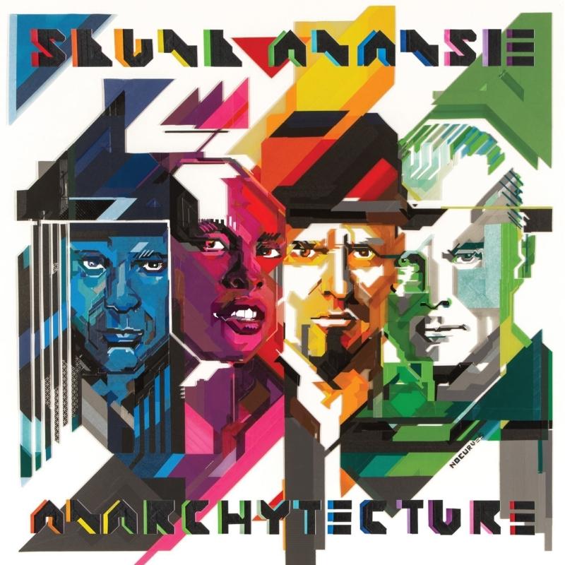 """Cover di """"Anarchytecture"""" (2016) degli Skunk Anansie, realizzata da No Curves"""