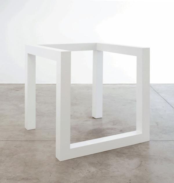 Sol LeWitt, Incomplete Open Cube 8/5, 1974. Baked enamel aluminum. Courtesy: Cardi Gallery. Photo credit: Elena Bodecchi