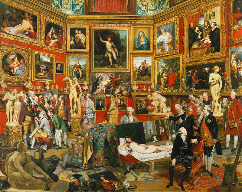 Johann Zoffany, Tribuna of the Uffizi, 1772–78, Royal Collection, Windsor Castle