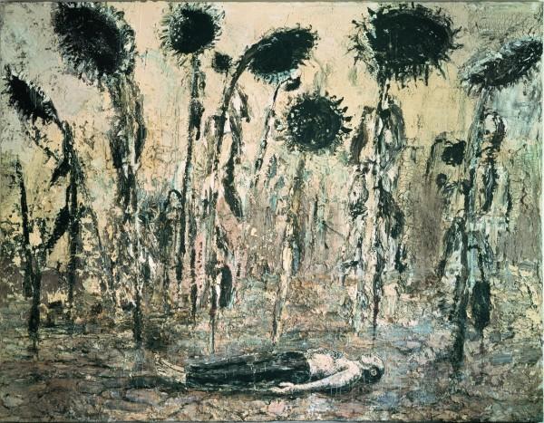 Die Orden der Nacht [Les Ordres de la nuit], 1996 Acrylique, émulsion et shellac sur toile 356 x 463 cm Seattle Art Museum Photo : © Atelier Anselm Kiefer