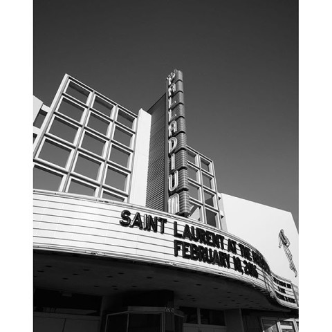 Saint Laurent at The Palladium © ysl - The official Instagram account of Yves Saint Laurent