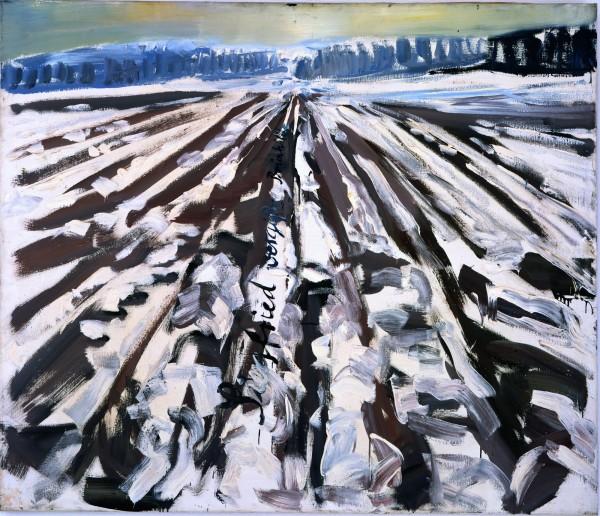 Siegfried vergißt Brünhilde [Siegfried oublie Brunehilde], 1975. Huile sur toile 130x150 cm. MKM Museum Küppersmühle für Moderne Kunst, Duisbourg, Ströher Collection. Photo : © Olaf Bergmann Witten