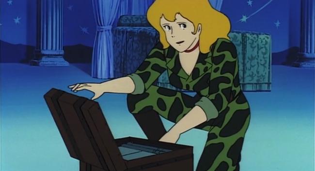 Fujiko, scena tratta da Lupin III Il castello di Cagliostro, TMS Entertainment, 1979