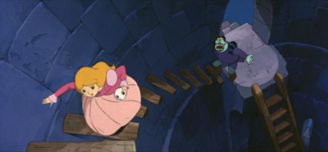 scena tratta da Il gatto con gli stivali, Toei Animation, 1969