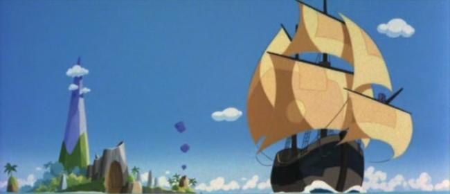 scena tratta da Gli allegri pirati dell'isola del tesoro, Toei Animation, 1971