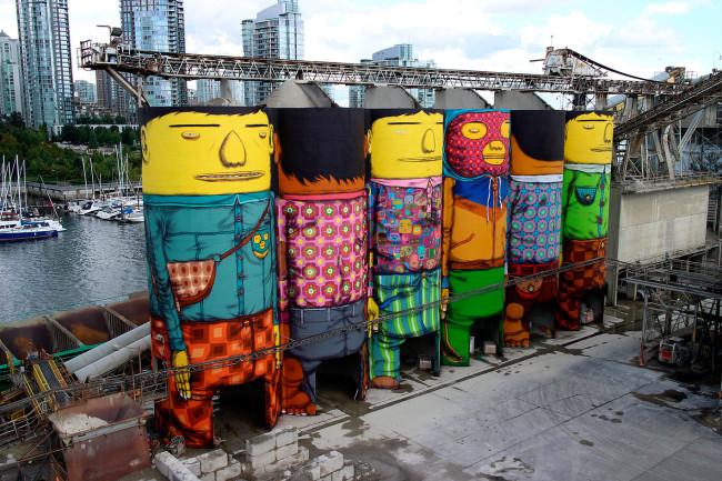 Giants, Vancouver Biennale, Canada (2014). Courtesy OSGEMEOS