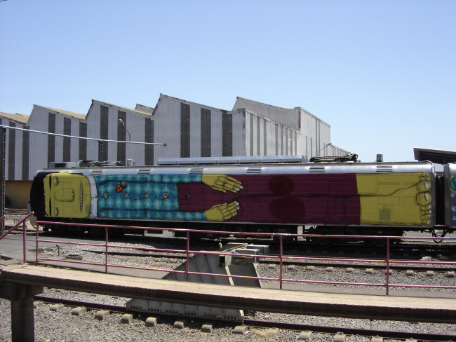 Wholetrain (2005). Courtesy OSGEMEOS
